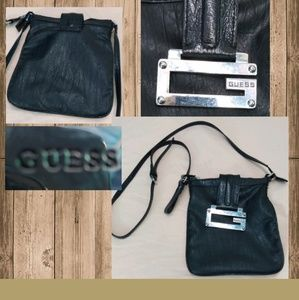 Guess Black Leather Crossbody